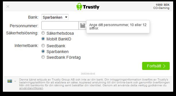 Trustly Bank-ID